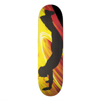 skateboard with hand stand