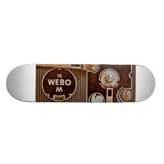 Skateboard with image of a French Movie Camera