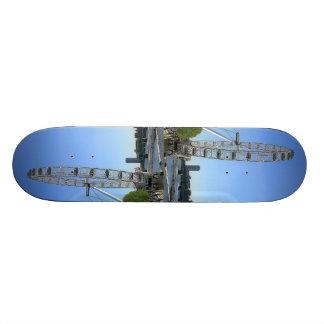 Skateboard with London Eye Ferris Wheel