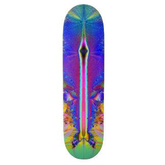 """Skateboard with """"Plasma Rocket"""" Fractal Image"""