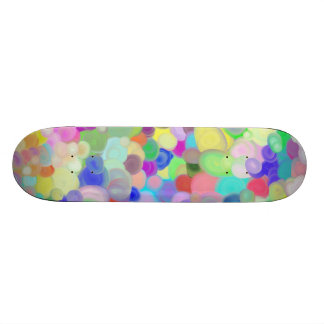 Skateboard with tempera paints