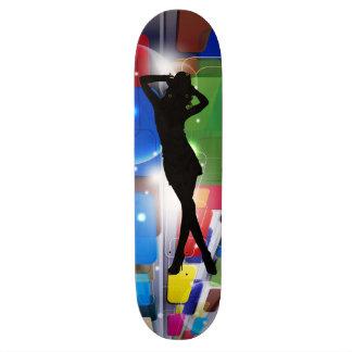 skateboard-woman's silhouette skateboard
