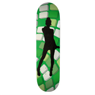 skateboard-woman's silhouette skateboard deck