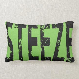 Skateboard Word Art Steeze Throw Pillow Green Grey