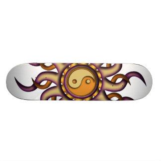 Skateboard, Yin Yang Sun, Purple and Orange Skateboard