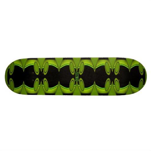 Skateboard Zizzago Greenie Black Skate Board