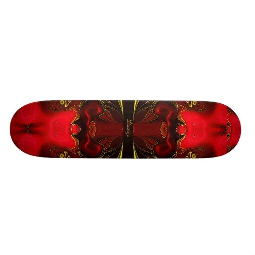 Skateboard Zizzago Red Golden Flame Flip 2 Skateboard Deck