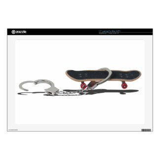 SkateboardAndHandcuffs081914 copy Skins For Laptops