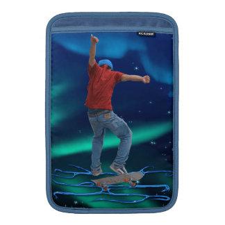 Skateboarder 2 & Aurora Action Sports Art MacBook Sleeve