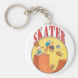 Skateboarder #4 basic round button keychain