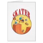 Skateboarder #4 greeting card