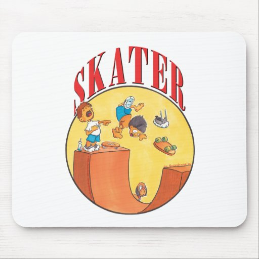 Skateboarder #4 mouse pad