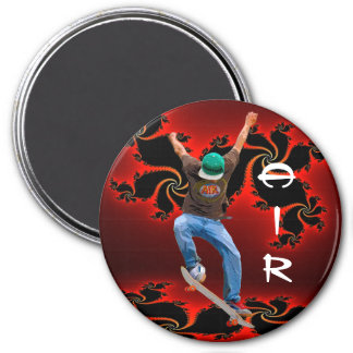 Skateboarder Action AIR Sports Art Magnet