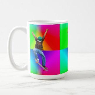 Skateboarder Action Sports Art Coffee Mug