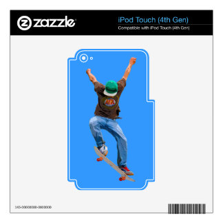 Skateboarder Action Sports Art Decals For iPod Touch 4G