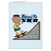 SKATEBOARDER - African American Boy Card