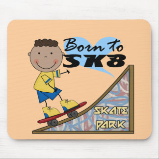 SKATEBOARDER - African American Boy Mouse Pad