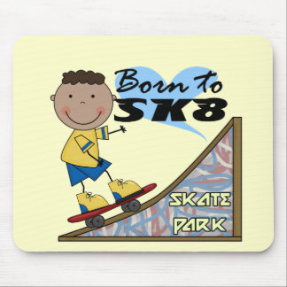 SKATEBOARDER - African American Boy Mouse Pads