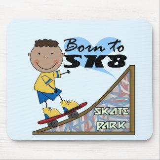 SKATEBOARDER - African American Boy Mousepad