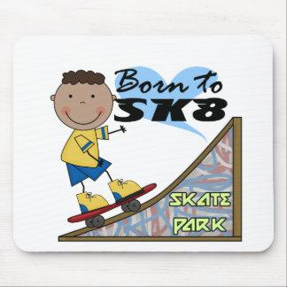 SKATEBOARDER - African American Boy Mousepads