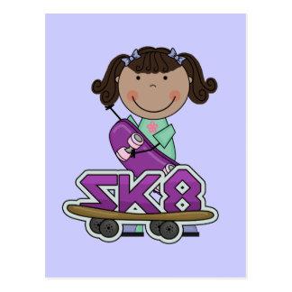SKATEBOARDER -African American Girl Tshirts Post Card
