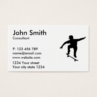 Skateboarder Business Card