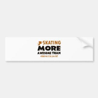 Skateboarder designs bumper sticker