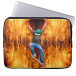 Skateboarder & Flames Action Sports Art Computer Sleeves