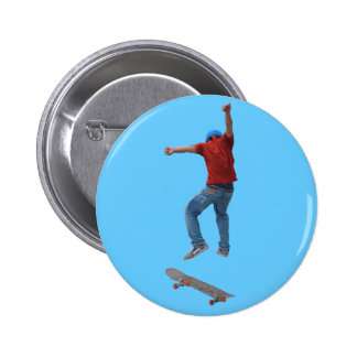 Skateboarder Get Some Air Action Street Kulcha Art 2 Inch Round Button
