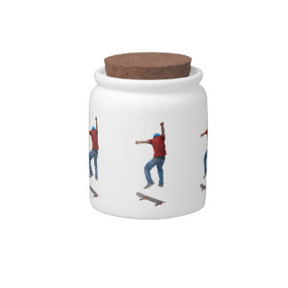 Skateboarder Get Some Air Action Street Kulcha Art Candy Dish