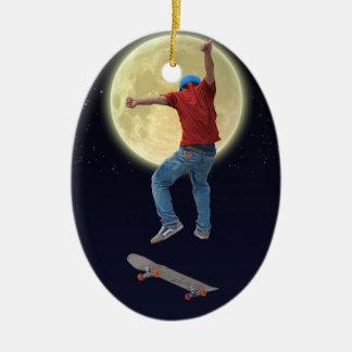 Skateboarder Get Some Air Action Street Kulcha Art Ceramic Ornament