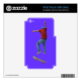 Skateboarder Get Some Air Action Street Kulcha Art Decals For iPod Touch 4G