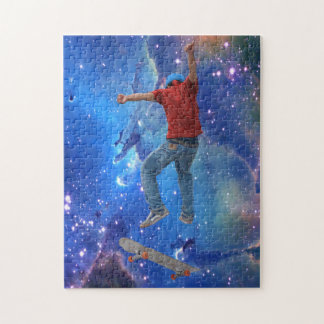Skateboarder Get Some Air Action Street Kulcha Art Jigsaw Puzzle