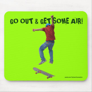 Skateboarder Get Some Air Action Street Kulcha Art Mouse Pad