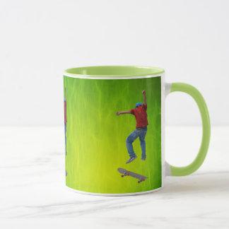 Skateboarder Get Some Air Action Street Kulcha Art Mug