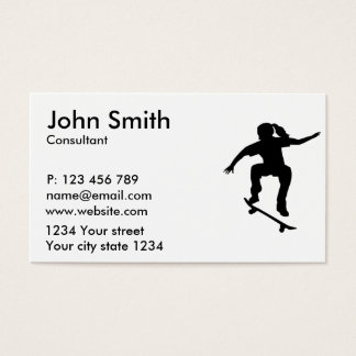 Skateboarder girl business card