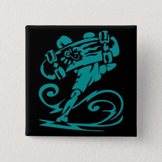 Skateboarder Handstand Button