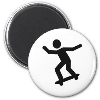 Skateboarder icon 2 inch round magnet
