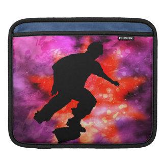 Skateboarder in Cosmic Clouds iPad Sleeve