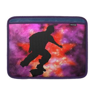 Skateboarder in Cosmic Clouds MacBook Air Sleeves