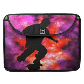 Skateboarder in Cosmic Clouds Sleeve For MacBook Pro