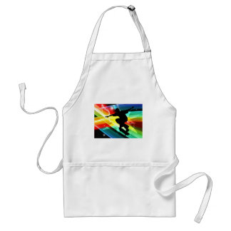 Skateboarder in Criss Cross Lightning Adult Apron