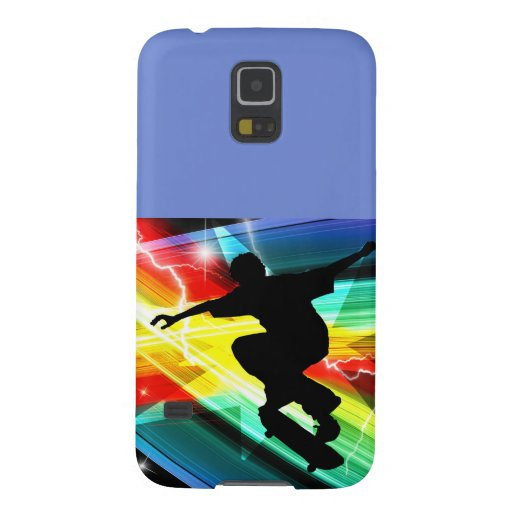 Skateboarder in Criss Cross Lightning Samsung Galaxy Nexus Cases