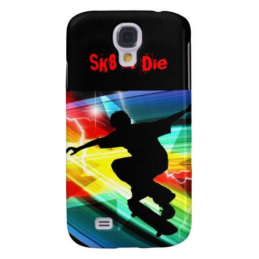 Skateboarder in Criss Cross Lightning Samsung Galaxy S4 Cover