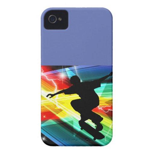 Skateboarder in Criss Cross Lightning Blackberry Bold Case