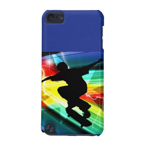 Skateboarder in Criss Cross Lightning iPod Touch 5G Case