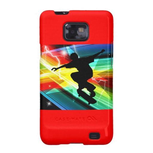 Skateboarder in Criss Cross Lightning Samsung Galaxy Cover