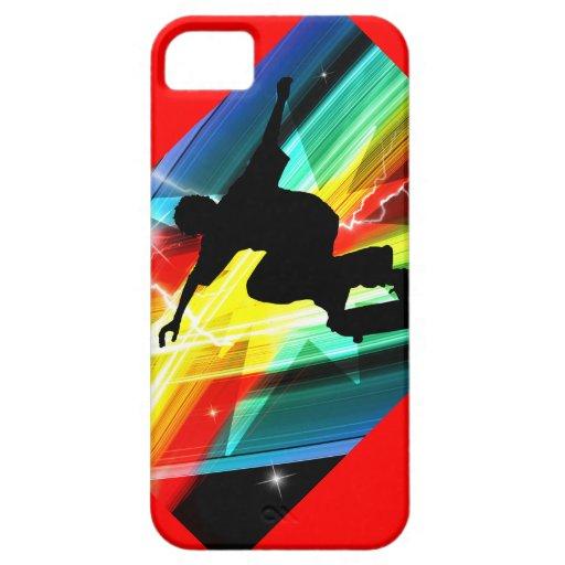 Skateboarder in Criss Cross Lightning iPhone 5/5S Cover