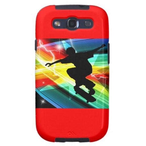 Skateboarder in Criss Cross Lightning Samsung Galaxy SIII Cover