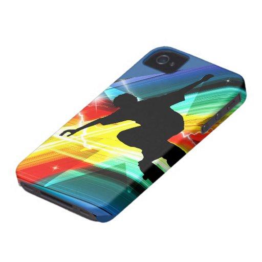 Skateboarder in Criss Cross Lightning iPhone 4 Case-Mate Cases